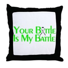 Lung Cancer Support Throw Pillow