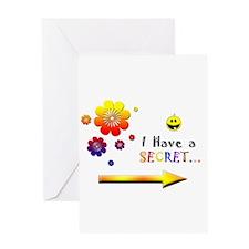 I have A Secret Girl.png Greeting Card