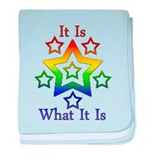 It is what it is.png baby blanket