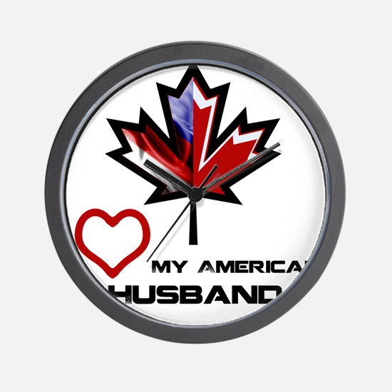 Canada-America Husband.png Wall Clock
