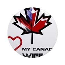 America - Canada Wife.png Ornament (Round)