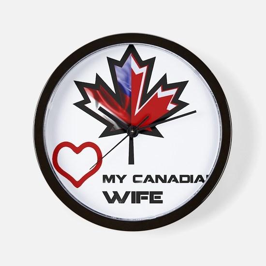 America - Canada Wife.png Wall Clock