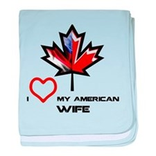 Canada-America Wife.png baby blanket