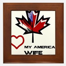 Canada-America Wife.png Framed Tile