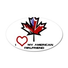 Canada-American Girlfriend.png Wall Decal