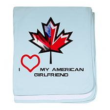 Canada-American Girlfriend.png baby blanket