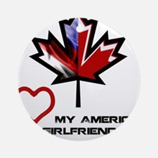 Canada-American Girlfriend.png Ornament (Round)