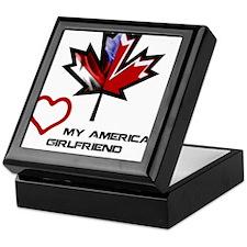 Canada-American Girlfriend.png Keepsake Box