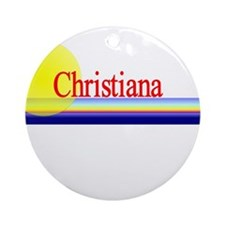 Christiana Ornament (Round)