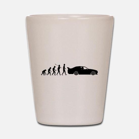Car Racing Shot Glass