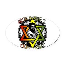 HAILE SELASSIE I - ONE LOVE! Oval Car Magnet