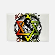 HAILE SELASSIE I - ONE LOVE! Rectangle Magnet