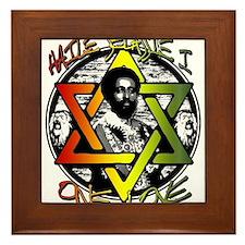 HAILE SELASSIE I - ONE LOVE! Framed Tile