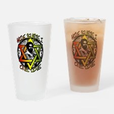 HAILE SELASSIE I - ONE LOVE! Drinking Glass