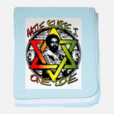HAILE SELASSIE I - ONE LOVE! baby blanket