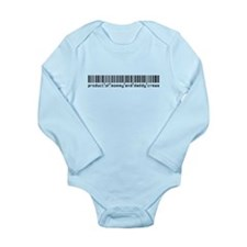 Crews, Baby Barcode, Long Sleeve Infant Bodysuit