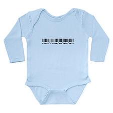Delia, Baby Barcode, Long Sleeve Infant Bodysuit