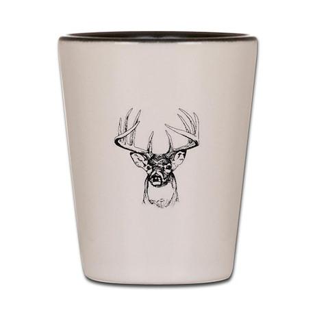 buck deer shot glasses