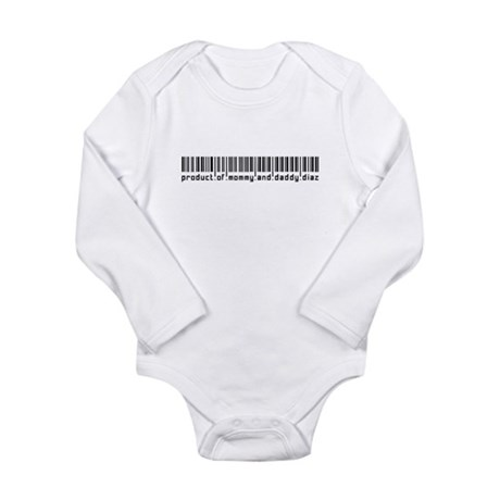 Diaz, Baby Barcode, Long Sleeve Infant Bodysuit