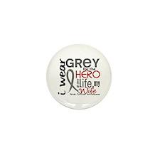 Hero in Life 2 Brain Cancer Mini Button (10 pack)