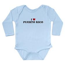 I Love Puerto Rico Long Sleeve Infant Bodysuit
