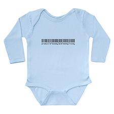Finney, Baby Barcode, Long Sleeve Infant Bodysuit