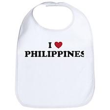 I Love Philippines Bib
