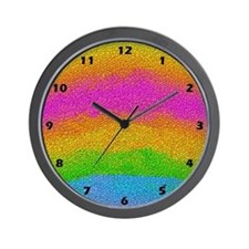 TILE LOOK RAINBOW Wall Clock