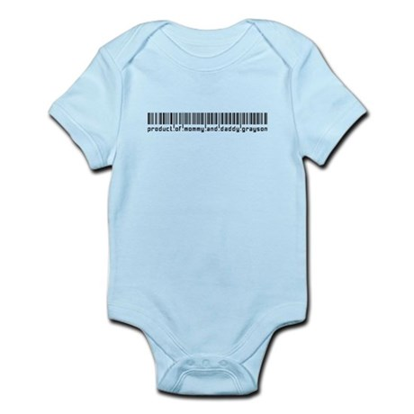 Grayson, Baby Barcode, Infant Bodysuit