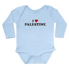 I Love Palestine Long Sleeve Infant Bodysuit