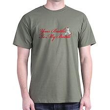 Lung Cancer Red Script T-Shirt