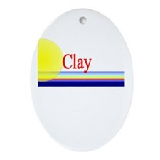 Clay Oval Ornament