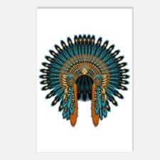 Native War Bonnet 07 Postcards (Package of 8)