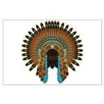 Native War Bonnet 08 Large Poster