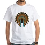 Native War Bonnet 08 White T-Shirt