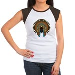 Native War Bonnet 08 Women's Cap Sleeve T-Shirt