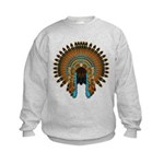 Native War Bonnet 08 Kids Sweatshirt