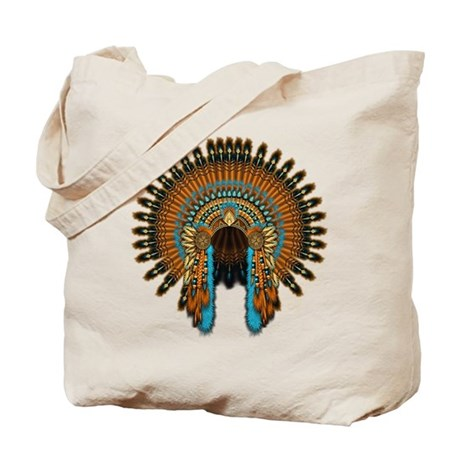 Native War Bonnet 08 Tote Bag