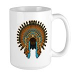 Native War Bonnet 08 Large Mug