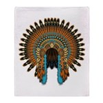 Native War Bonnet 08 Throw Blanket