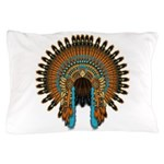 Native War Bonnet 08 Pillow Case
