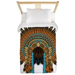 Native War Bonnet 08 Twin Duvet