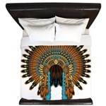 Native War Bonnet 08 King Duvet