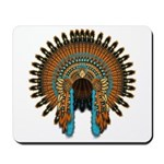 Native War Bonnet 08 Mousepad