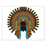 Native War Bonnet 08 Small Poster