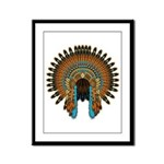 Native War Bonnet 08 Framed Panel Print