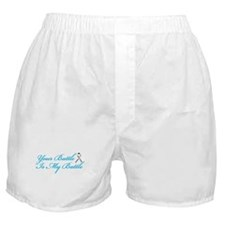 Lung Cancer Blue Boxer Shorts