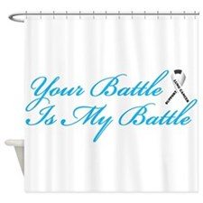 Lung Cancer Blue Shower Curtain