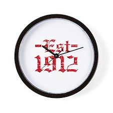 Established in 1912 Wall Clock