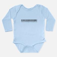 Mallory, Baby Barcode, Long Sleeve Infant Bodysuit